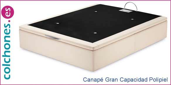 canapé gran capacidad polipiel drycare de Sonpura