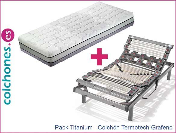 Pack Titanium más colchón Termotech Grafeno de Hukla