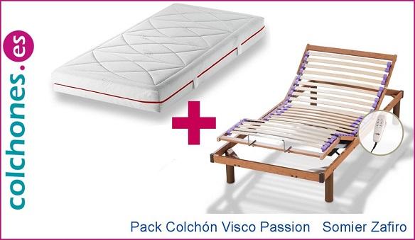 Opiniones del Pack colchón Visco Passion más somier motor Zafiro de Hukla