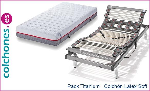 Pack Titanium más colchón Látex Soft de Hukla
