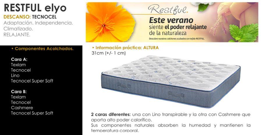Composición del colchón Elyo Relax
