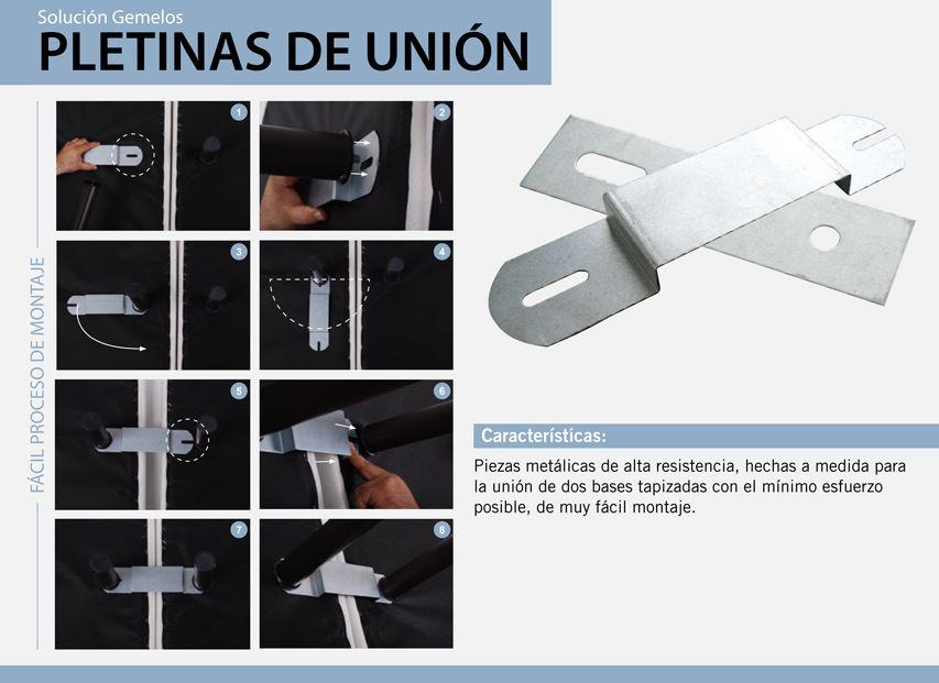 Pletinas de unión base tapizada L2 3D