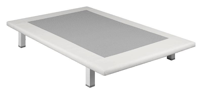 Base tapizada Slim Divanlin polipiel blanca