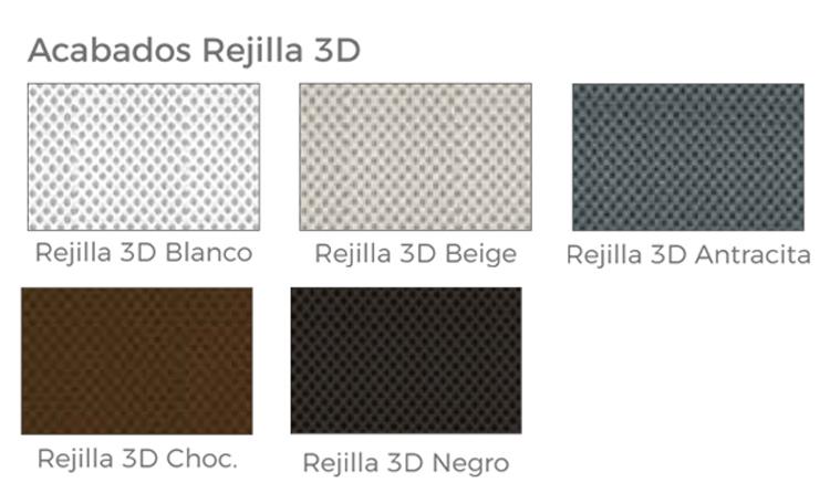 Colores disponibles de la base tapizada Somitap Curco malla 3D