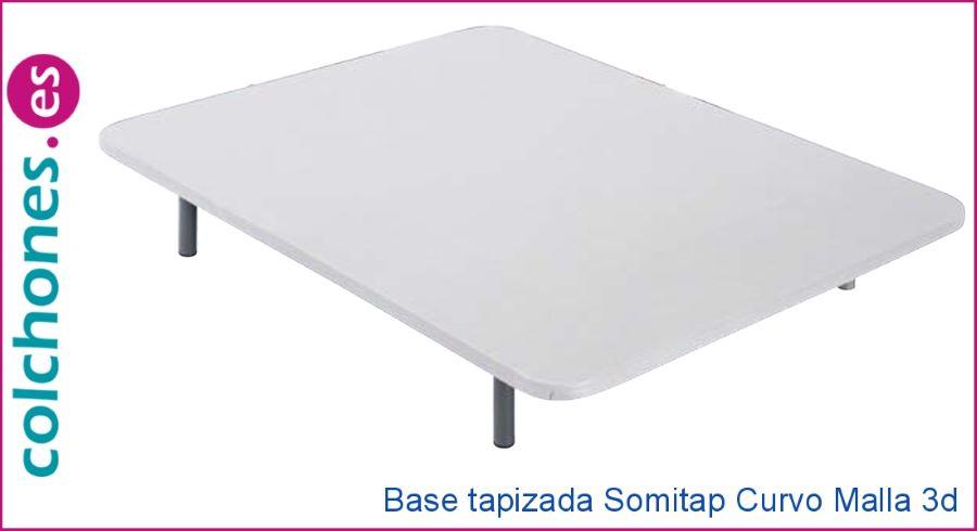 Opiniones de la base tapizada Somitap Curvo malla 3D de Colchones.es