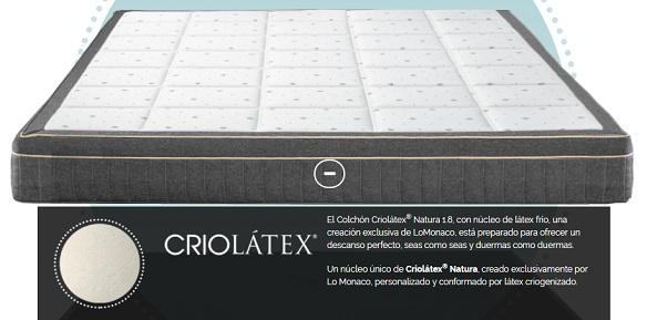 El colchón Criolátex eco10 Lo Monaco Ocu 2018 comparado