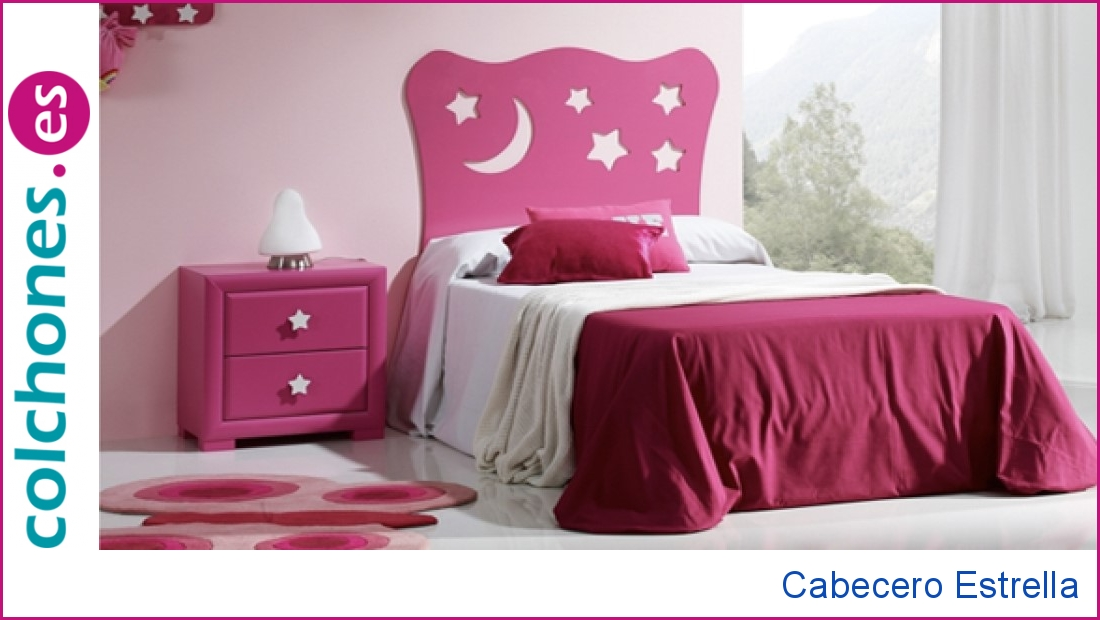 Cabecero de cama infantil Estrella