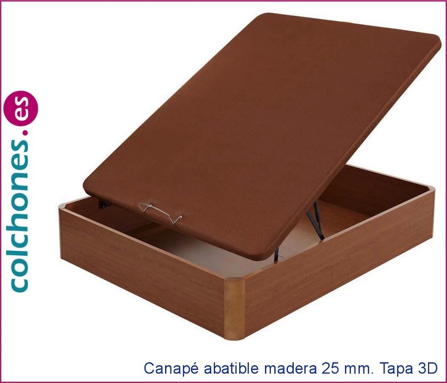 Canapé abatible madera 25 con tapa en 3D de Flex