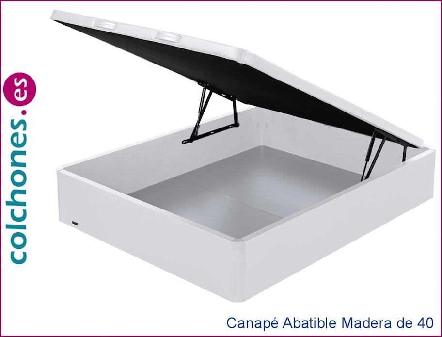 Canapé abatible madera 40 con tapa 3D de Flex