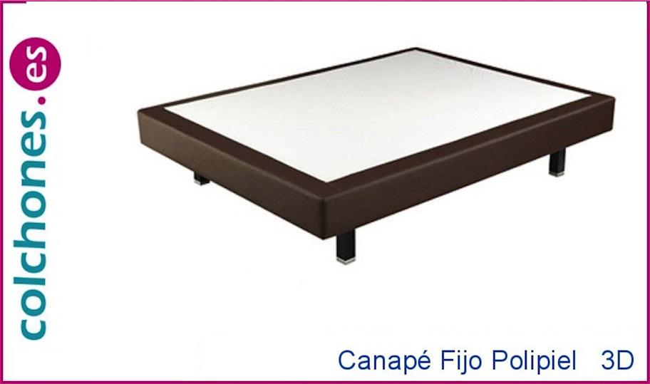Canapé Fijo Polipiel + 3D de Pikolin