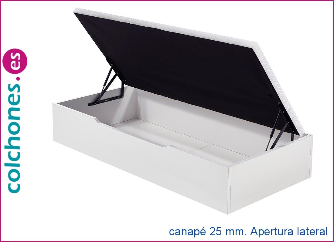 Canapé abatible madera 25 mm. con apertura lateral