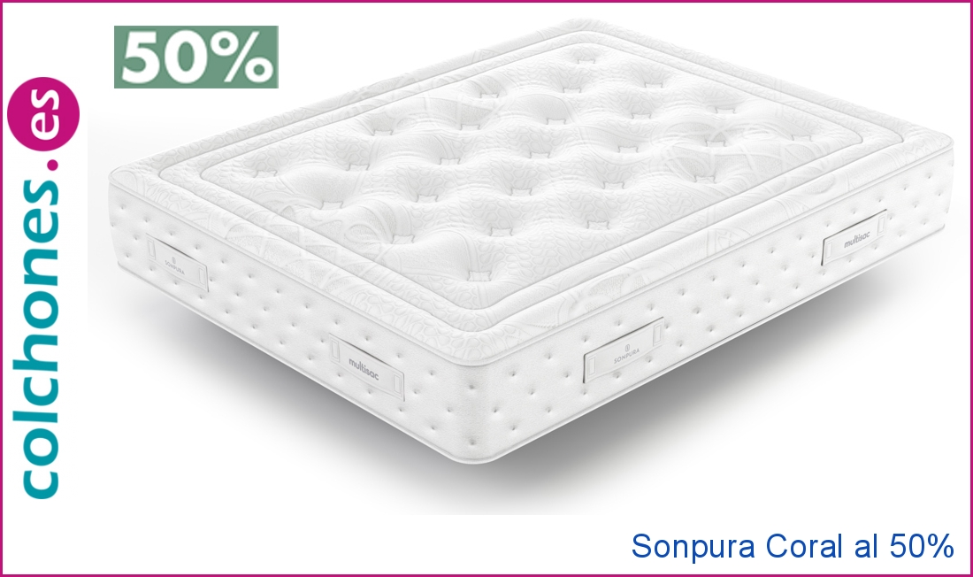 promoción 50% colchón Coral