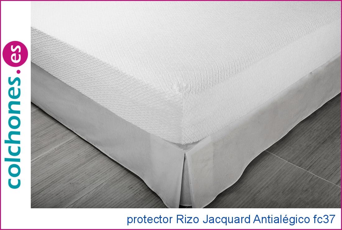 Protector Rizo jacquard Antialérgico de Pikolín Home