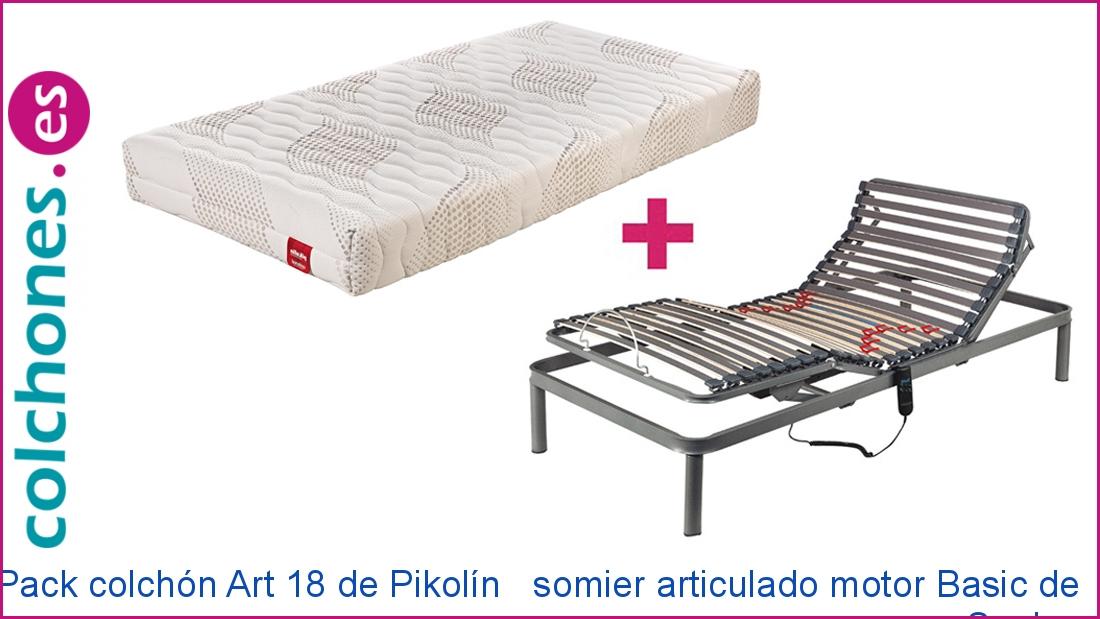Pack somier eléctrico Basic y colchón Art 18 de Pikolin
