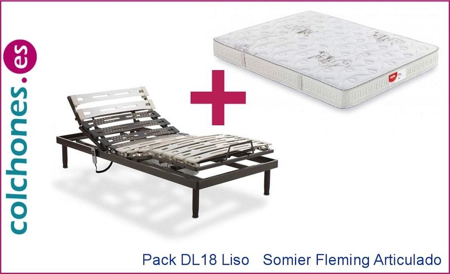 Pack colchón DL 18 liso más somier articulado Fleming de Dorwin (Flex)
