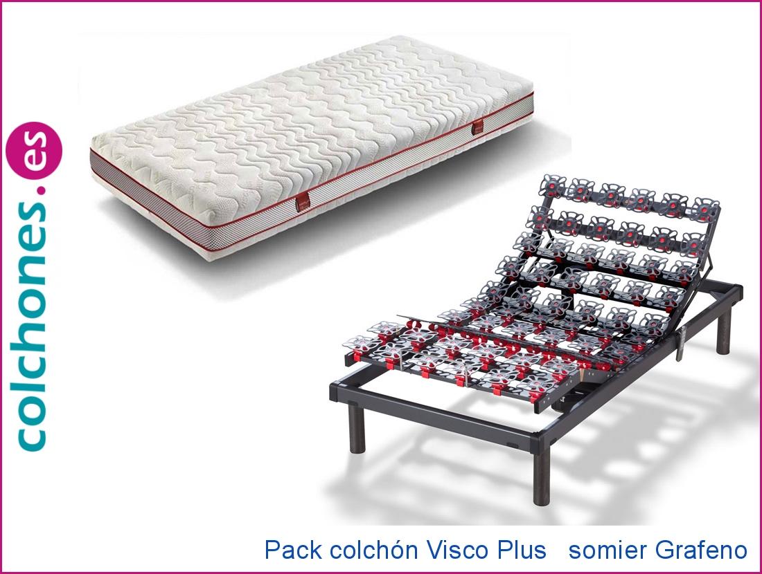 Colchón Visco Plus 5 + Somier articulado Grafeno (Hukla)