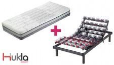 Colchón Hukla TermoTech más somier articulado Grafeno mini