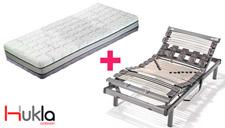 Colchón Hukla TermoTech Grafeno más somier articulado Titanium mini