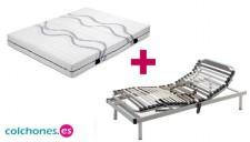 Pack Somier 5 planos + colchón Látex de Colchones.es mini