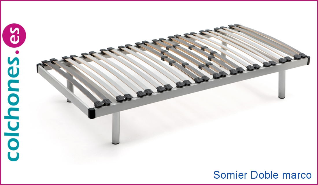 Somier Doble marco 60x20