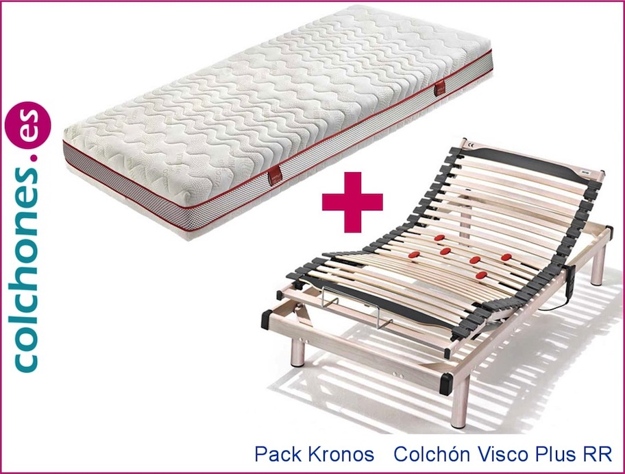 Colchón Visco Plus 5 + Somier articulado Kronos (Hukla)