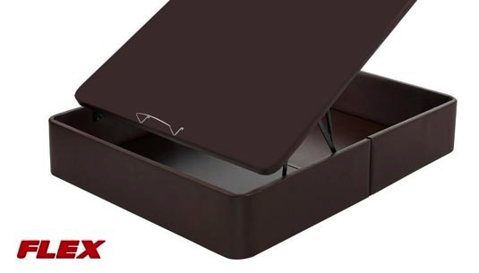 Canapé abatible tapizado en polipiel con tapa 3D de Flex
