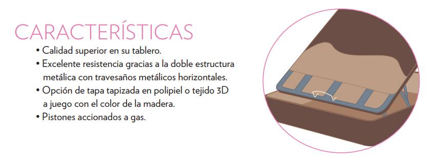 Ventajas Canapé abatible Tapizado Polipiel Tapa 3D