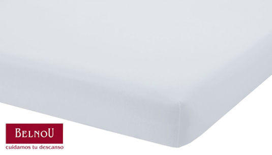 Cama 90 Belnou Vento Cubre Colch/ón Algod/ón Blanco 90 x 190 cm