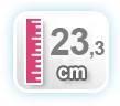 23,3 CM DE ALTURA