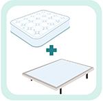 Base tapizada + colchón