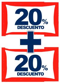 Descuento 20% + 20%