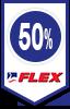 50% de descuento Flex