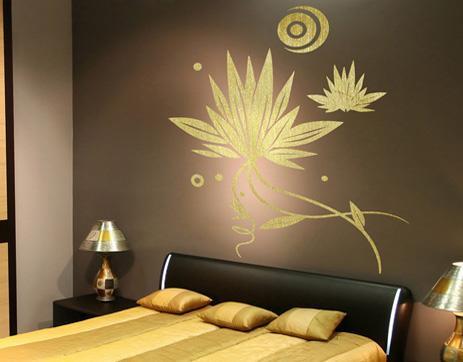 Decoraci n con vinilos en el dormitorio un espacio para so ar - Vinilos decorativos para dormitorios matrimoniales ...