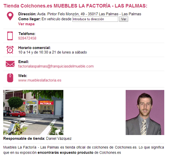 Tiendas de Colchones en Las Palmas de Colchones.es