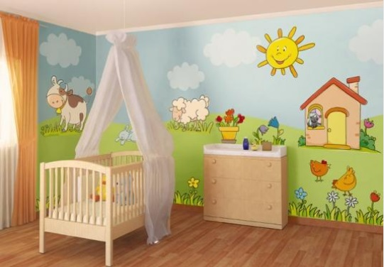 Dibujos En Paredes Infantiles Amazing En Las Paredes Usted Puede - Dibujos-pared-infantil