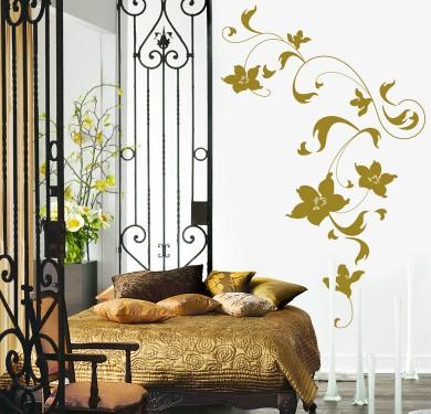 Vinilo decorativo con motivos florales