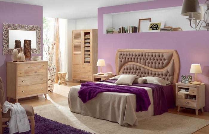 Dormitorio retro y femenino