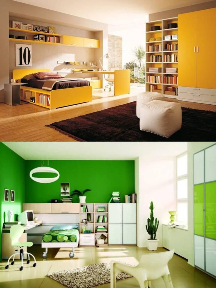 tendencias en decoración de dormitorios para 2014 colores verde lima y amarillos son tendencia