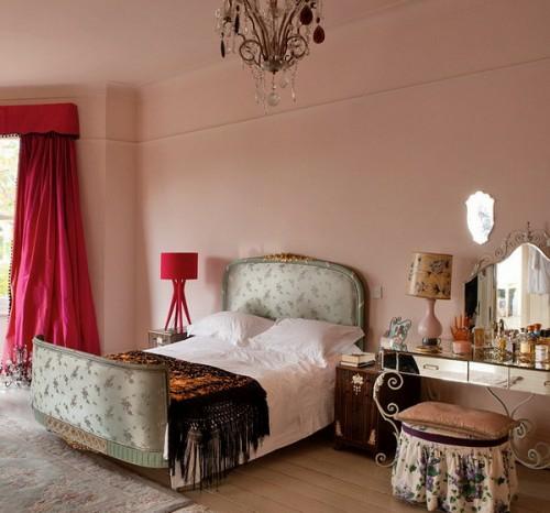 dormitorio estilo británico