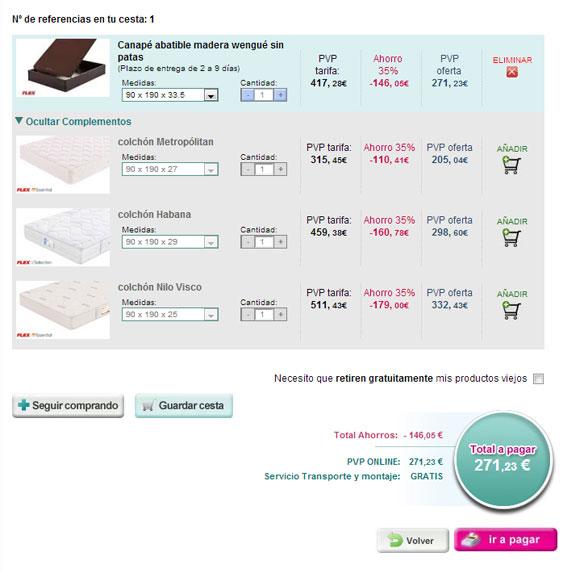 pasos para comprar online un canapé
