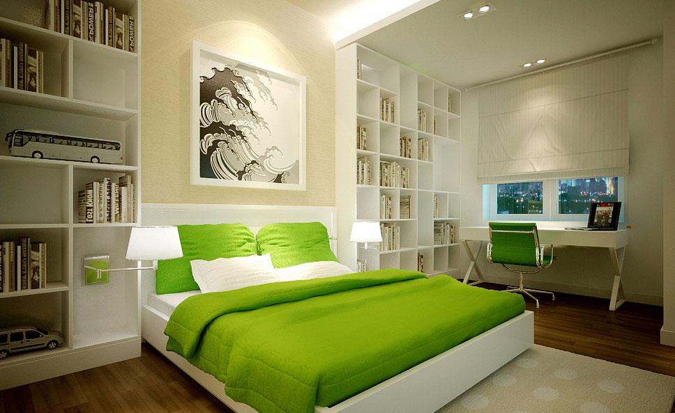 dormitorio con feng shui