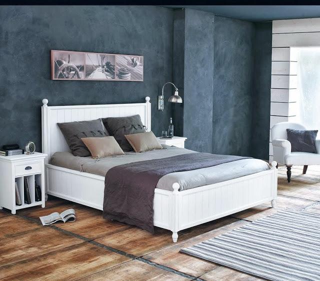 Dormitorio ideal para jugar con los contrastes y la luz