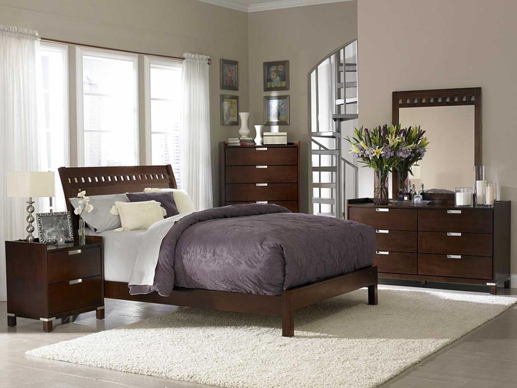 Dormitorio masculino elegante y luminoso