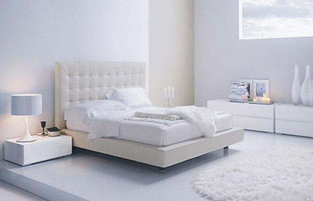 Dormitorio para los amantes del blanco