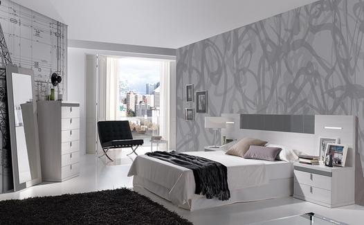 dormitorio con manta