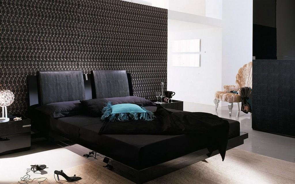 moderno dormitorio en negro