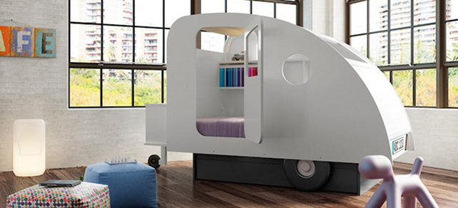 dormitorio infantil hipster coche