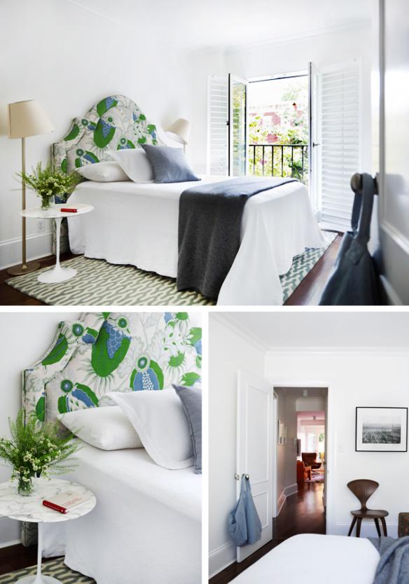 Dormitorio con luz natura en Nueva York via ChicDeco