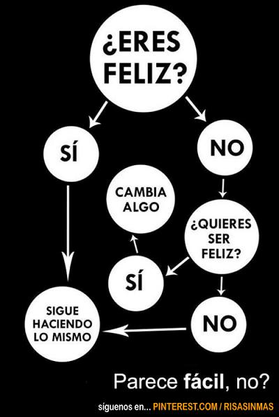 diagrama para ser feliz. Fuente: risasinmas.com