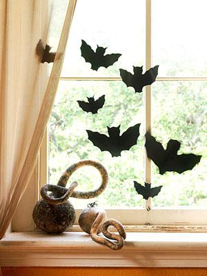 murcielagos en la ventana